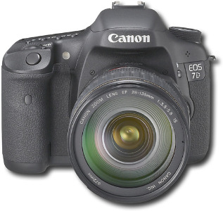 Canon EOS 7D 18.0-Megapixel DSLR Camera with 28-135mm Lens Kit - Black