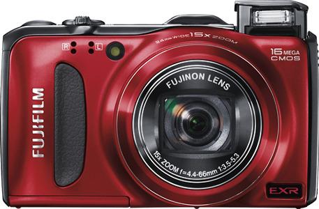 FUJIFILM FinePix F550EXR 16.0-Megapixel Digital Camera - Red