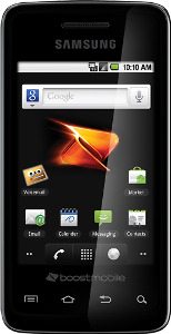 Boost Mobile Samsung Galaxy Prevail No-Contract Mobile Phone - Black