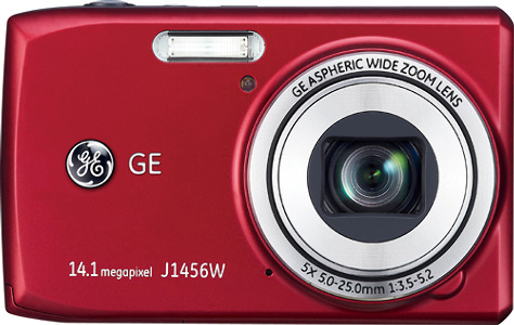 GE Smart Series J1456W 14.1-Megapixel Digital Camera - Red