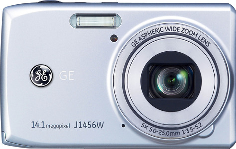 GE Smart Series J1456W 14.1-Megapixel Digital Camera - Silver