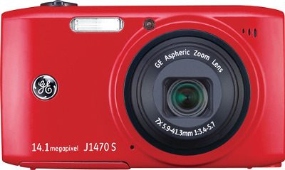 GE Smart Series J1470S 14.1-Megapixel Digital Camera - Red