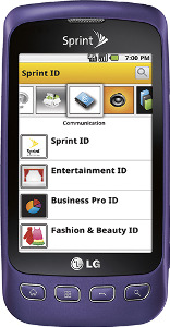 LG Optimus S Mobile Phone - Purple