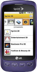 LG Optimus S Mobile Phone - Purple