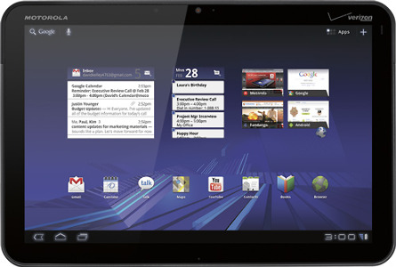 Motorola Factory-Refurbished XOOM Tablet Wi-Fi with 32GB Hard Drive - Dark Titanium