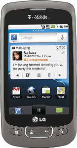 LG Optimus T Mobile Phone - Titanium