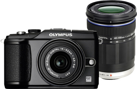Olympus Refurbished PEN E-PL2 12.3-Megapixel Digital Camera - Black