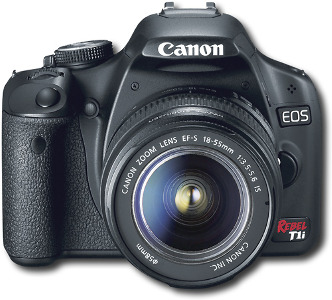 Canon EOS Digital Rebel T1i 15.1-Megapixel Digital SLR Camera - Black