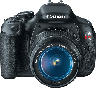 Canon EOS Rebel T3i 18.0-Megapixel DSLR Camera with 18-55mm Lens - Black