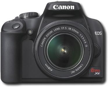 Canon EOS Digital Rebel XS 10.1-Megapixel Digital SLR Camera - Black