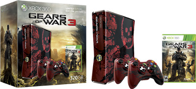 Microsoft Xbox 360 Limited Edition Gears of War 3 Bundle