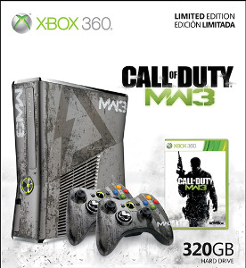 Microsoft Xbox 360 320gb Limited Edition Call Of Duty Modern Warfare 3 Bundle Twig Conversion