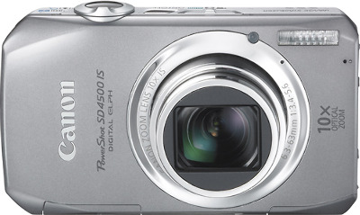 Canon PowerShot SD4500 IS 10.0-Megapixel Digital Camera - Silver