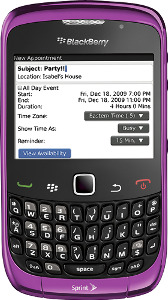 BlackBerry Curve 3G Mobile Phone - Royal Purple