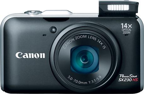 Canon PowerShot SX230HS 12.1-Megapixel Digital Camera - Black