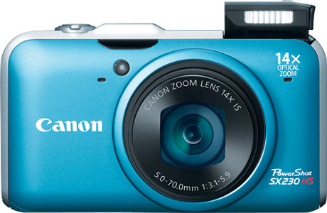 Canon PowerShot SX230HS 12.1-Megapixel Digital Camera - Blue
