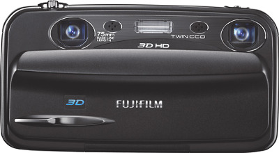 FUJIFILM FinePix W3 Real 3D 10.0-Megapixel Digital Camera - Black