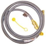 "3/8"" 10 Ft Natural Gas Grill Hose w/Brass Connectors"