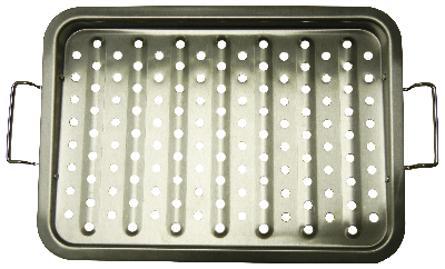 stainless steel grid topper with handles