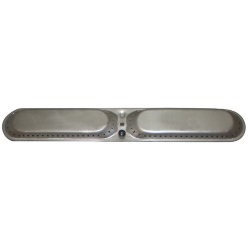 "stainless steel oval twin burner 14 3/4"" x 2 1/8"""