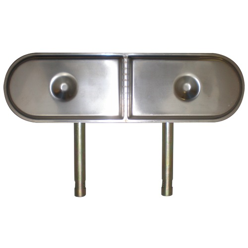 "stainless steel oval twin burner with venturis 13 3/8 "" x 3 1/2"""