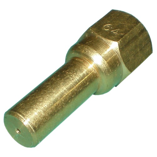 long blunt-end hood orifice, 0-3 with #64 drill. Fits valve 3042C.