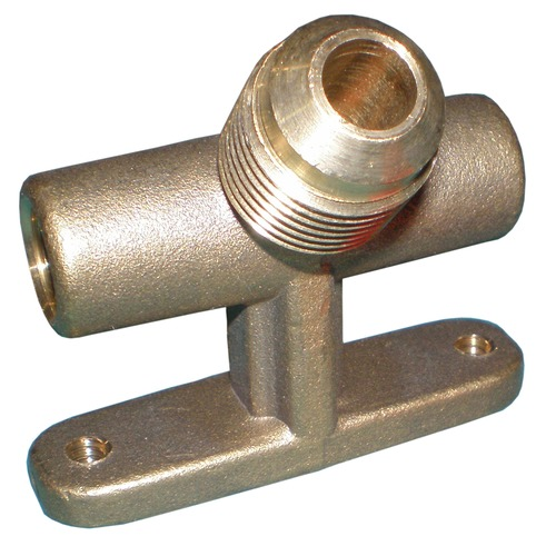"Brass T Manifold for Twin Valves w/ 0.375"" Male Flare"
