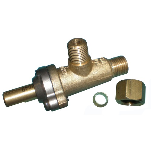"Brass Valve w/ .25"" Female Aluminum Compression Fitting"