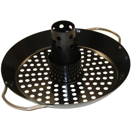 Upright Porcelain Steel Roasting Rack w/Grid Topper
