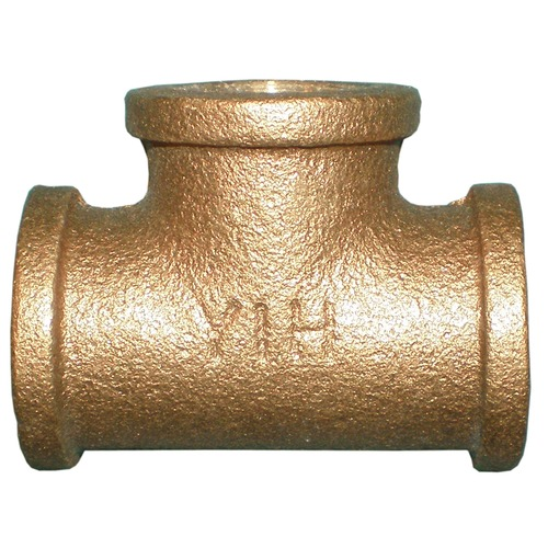 Brass T fitting with nipple