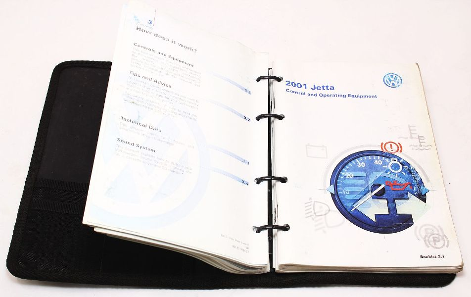 2000 VW Jetta Owners Manual - Book Booklet Info MK4 Volkswagen - Genuine