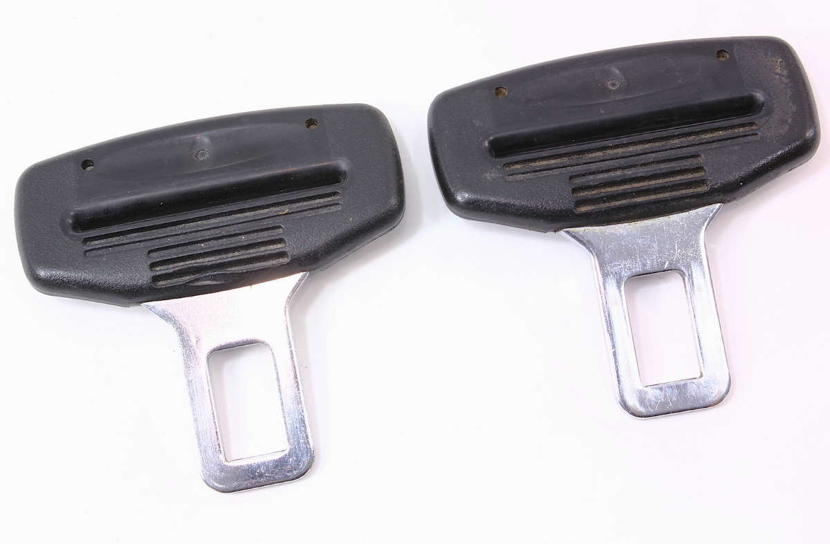 Set Of 2 Male Seat Belt Seatbelt Buckle Clip VW Jetta Golf GTI Touareg Audi A4