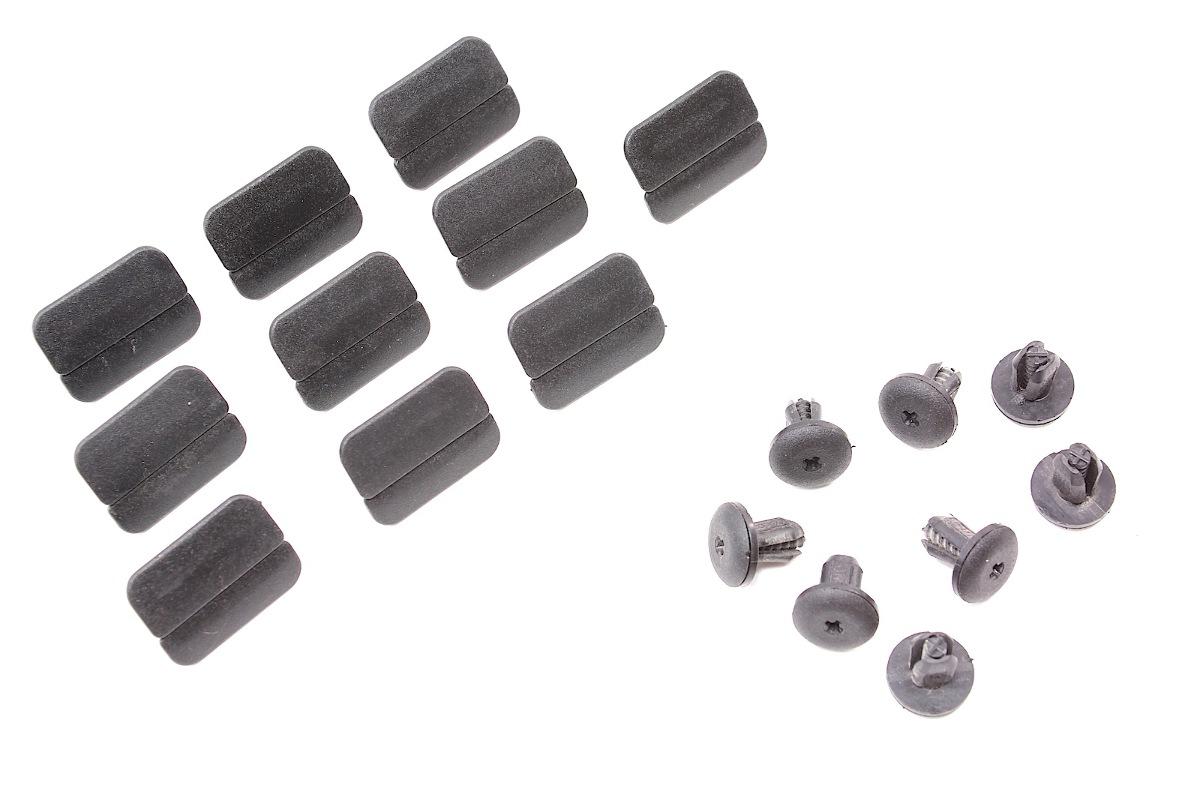 Trunk Lid Carpet Trim Panel Clips Screws Set 93-99 VW Jetta MK3 - Genuine