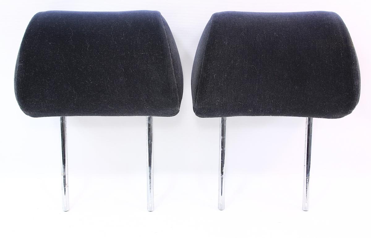 Rear Seat Headrests Pair 96-99 Audi A4 - Black Cloth - Genuine