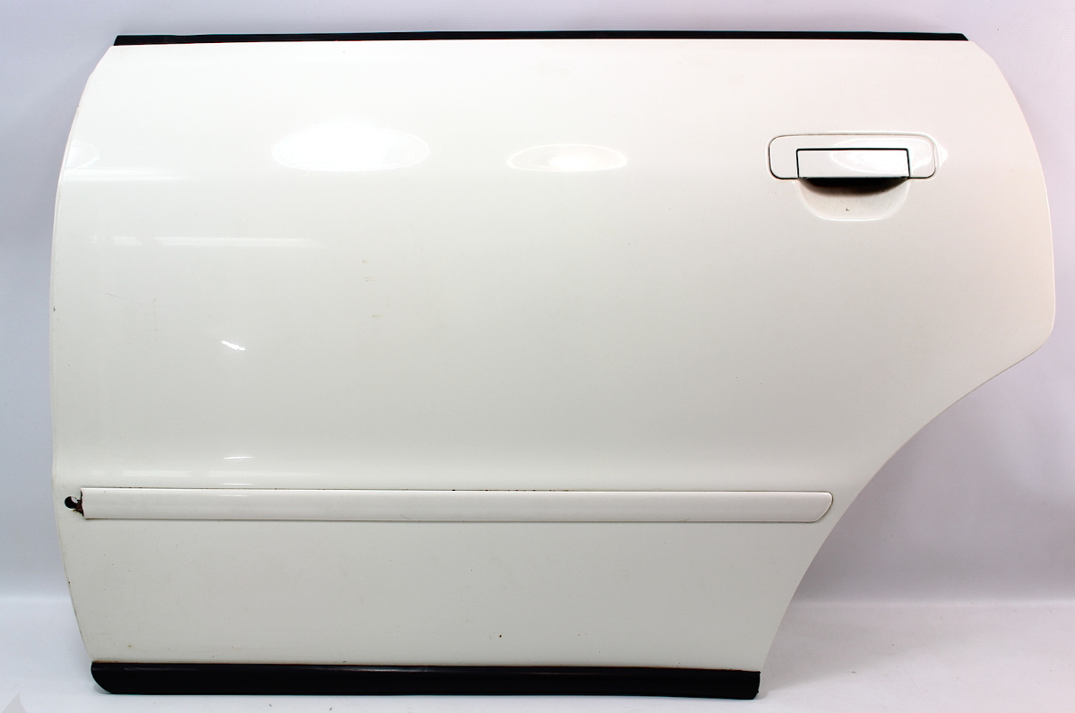 LH Rear Door Shell Skin 96-99 Audi A4 B5 - LY9G Casablanca White - Genuine