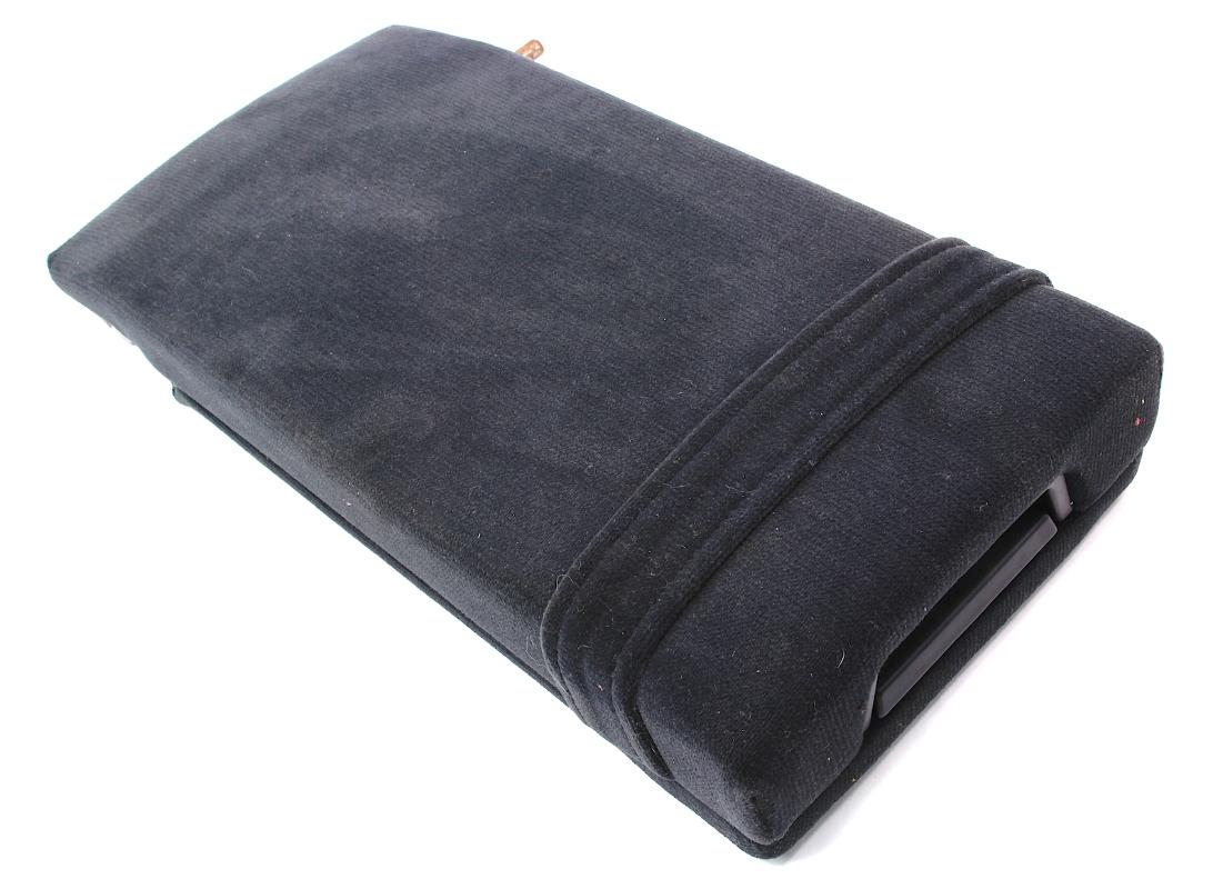 Rear Seat Arm Rest Console 96-01 Audi A4 - Black Cloth - Genuine