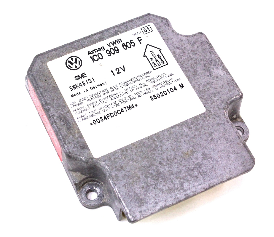 Airbag Air Bag Computer Module 02-03 VW Jetta MK4 - Genuine - 1C0 909 605 F