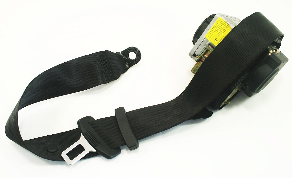 LH Rear Seat Belt 98-05 VW Passat B5 B5.5 - Black - Genuine - 3B5 857 805 D