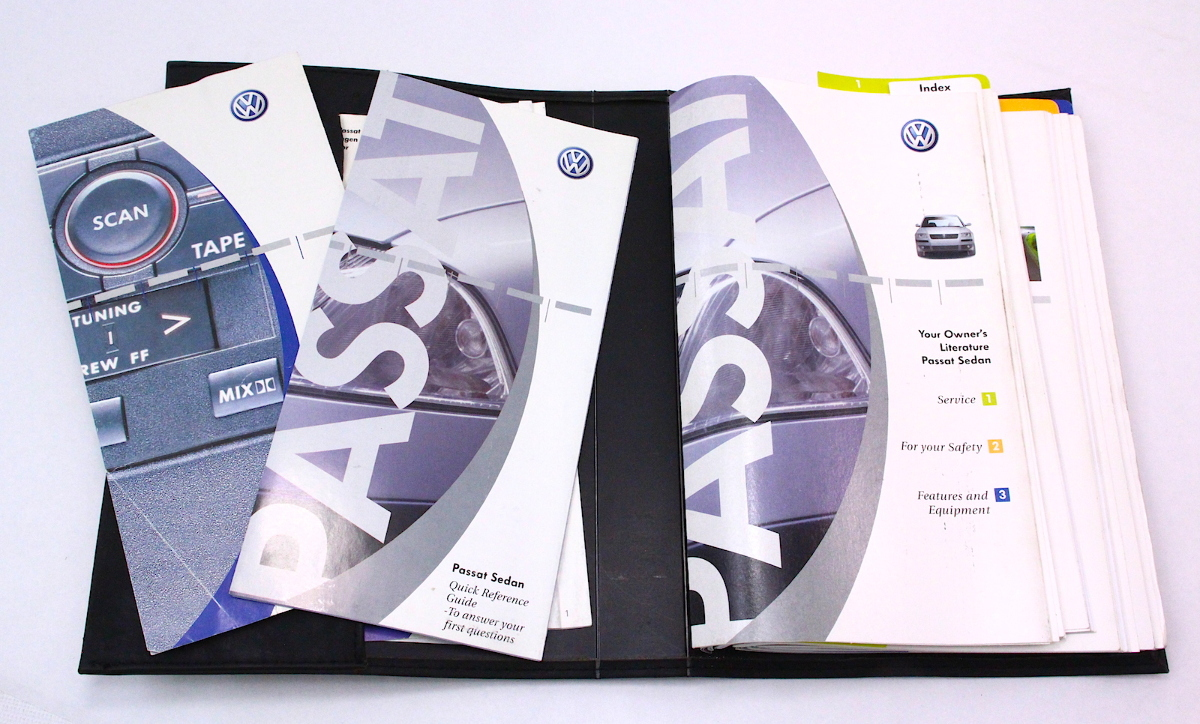 ... Genuine Owners Manual Books 2001 VW Passat B5.5 - Volkswagen ...