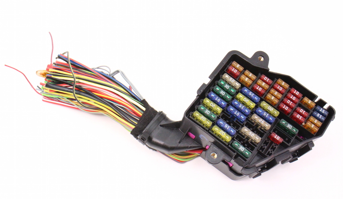 dash fuse box panel & wiring harness pigtail 02-04 audi a6 ... audi tt dashboard wiring harness