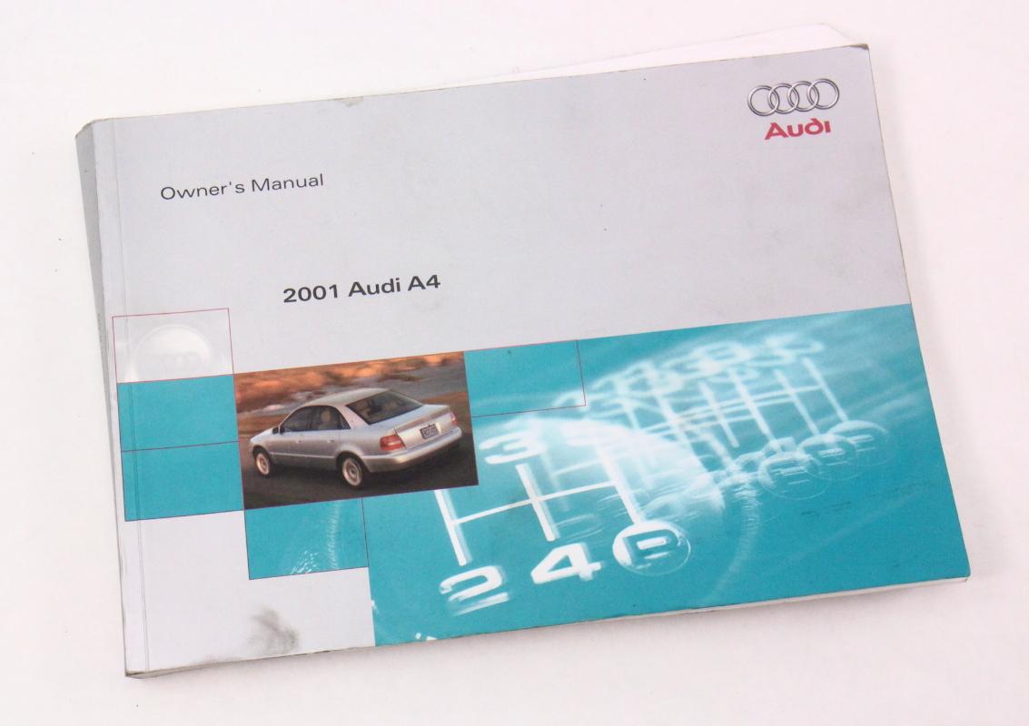 2001 Audi A4 B5 Owner's Manual Case Operation Book - Genuine |  CarParts4Sale, Inc.