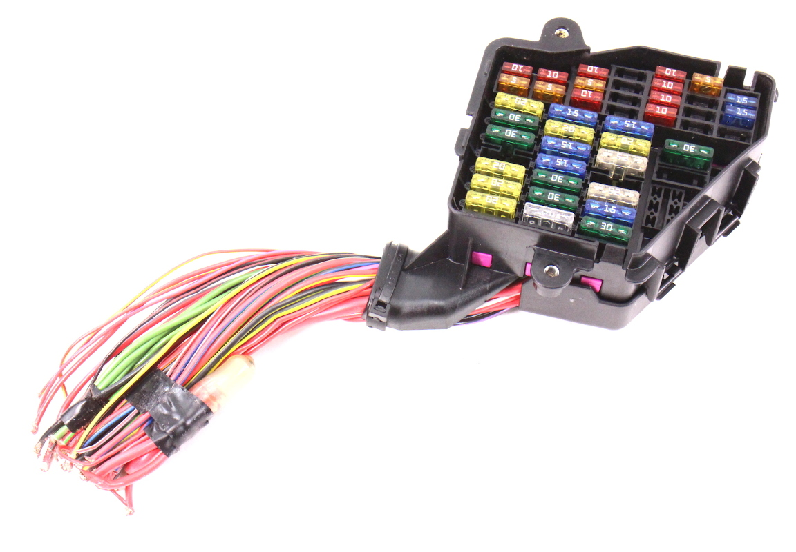Dash Fuse Box Panel & Wiring Harness Pigtail 02-05 Audi A4 B6 - Genuine