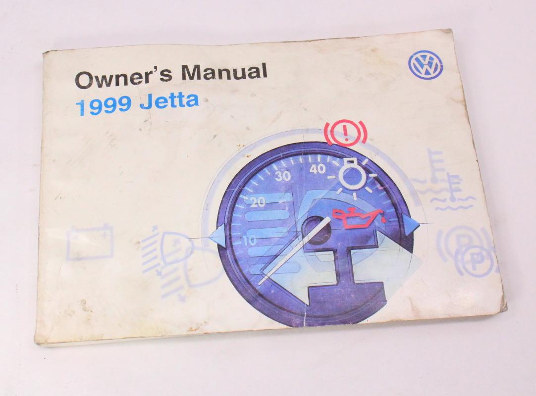 1999 VW Jetta Owners Manual Books & Case 93-99 VW Volkswagen Mk3 - Genuine  ...