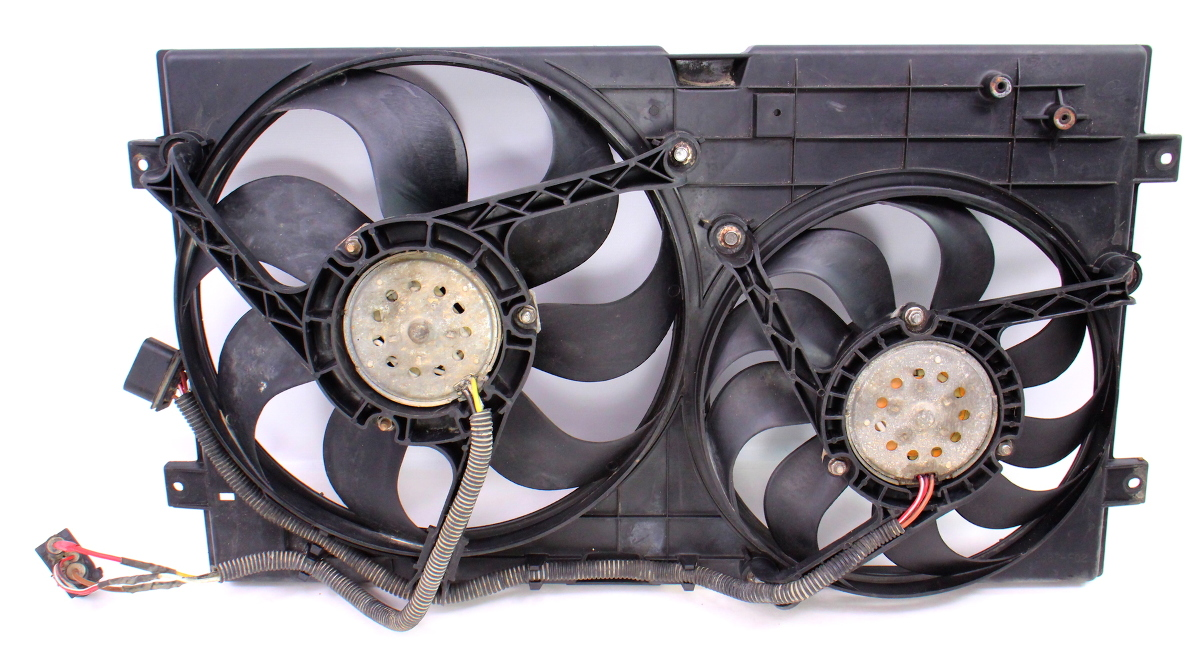 Engine Radiator Dual Cooling Fans 98 05 Vw New Beetle