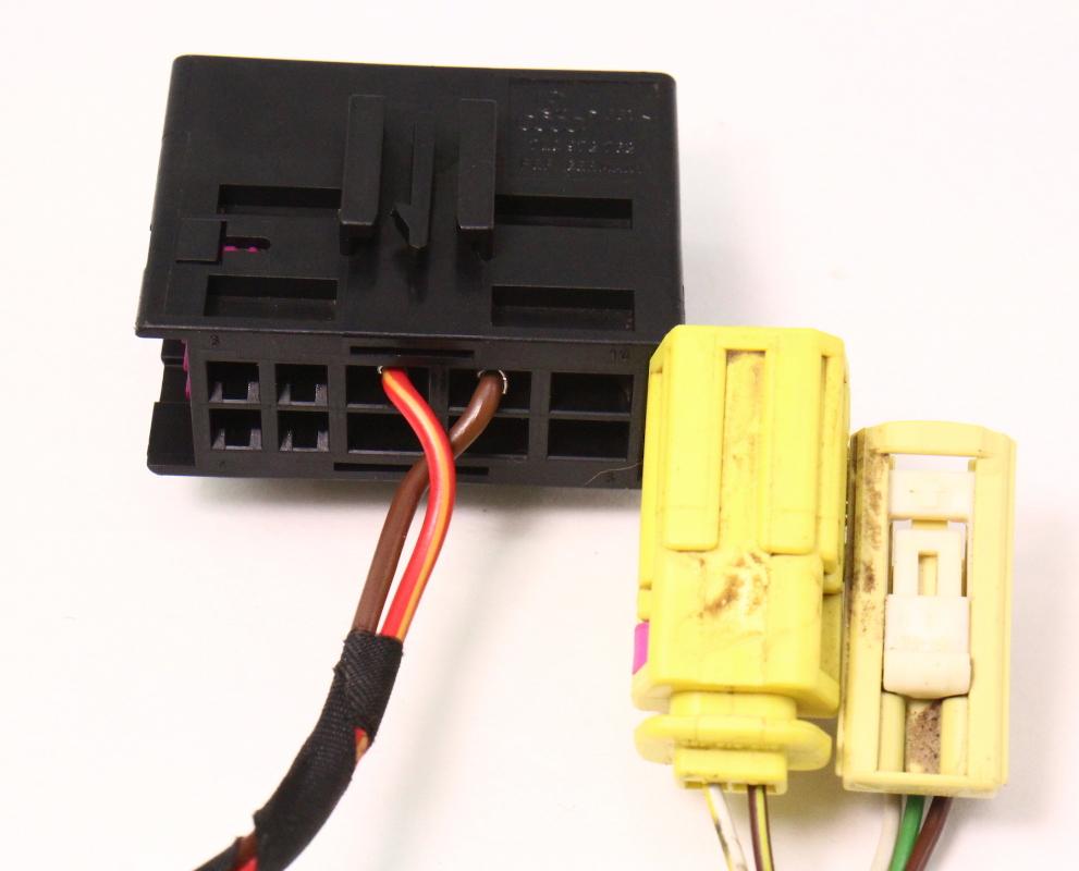Lh Seat Wiring Harness Plugs Pigtails Airbag 06 10 Vw Passat B6 Phaeton Genuine