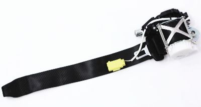 New RH Front Seat Belt 07-11 VW EOS - Black - Genuine - 1Q1 857 706 A