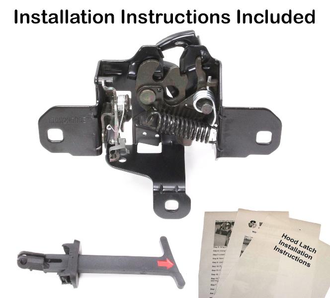 New Hood Latch Lock 99-05 VW Jetta Golf GTI MK4 With Pull Handle & Instructions | eBay