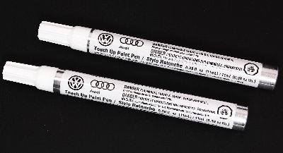 New Touch Up Paint Pen Set - VW Audi - Genuine - L100 Clear & LXG0 Modern Blue