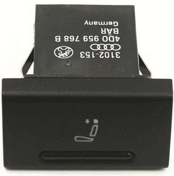 Rear Headrest Switch 00-03 Audi A8 S8 D2 Head Rest Button - 4D0 959 768 B
