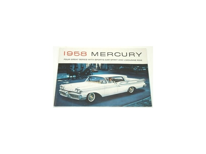 1958 Mercury Original Dealer Showroom Brochure